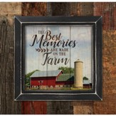 The Best Memories Are Made On the Farm, Framed Pallet Art