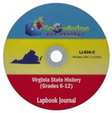 Virginia State History Lapbook  Journal PDF CD-ROM