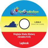Virginia State History Lapbook PDF CD-ROM