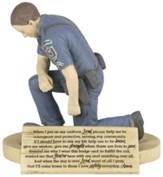 Police Officer's Prayer Figure
