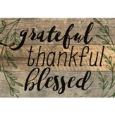 Grateful, Thankful, Blessed, Lath Art, Mini