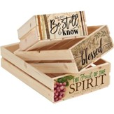 Be Still, Blessed, Fruit of the Spirit Crates, Set of 3