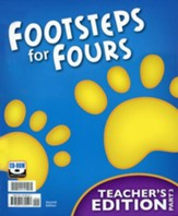 K4 Footsteps for Fours, Teacher's Edition Set (Book & CD)