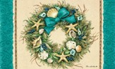 Coastal Wreath Door Mat