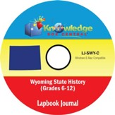 Wyoming State History Lapbook Journal PDF CD-ROM