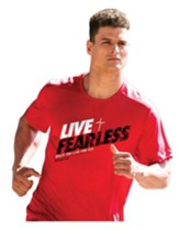 Live Fearless Shirt, Red, Large