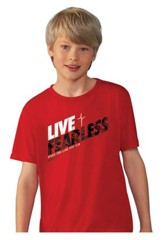 Live Fearless Shirt, Red, Youth Large