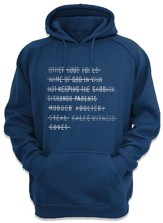 Top Ten Command Hooded Sweatshirt, Navy, Large