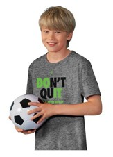 Don't Quit Shirt, Gray, Youth Large
