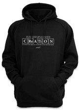 Creation Hooded Sweatshirt, Black, Large