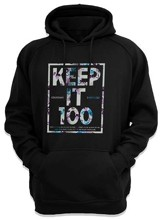Colossians 3:17 Hooded Sweatshirt, Black, Large