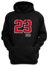 Psalm 23 Hooded Sweatshirt, Black, Large