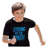 Strong To the Finish Shirt, Black, Youth Large