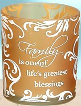 Family is One of the Greatest Blessings Votive Holder, Gold