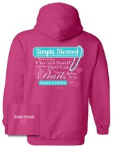 Modest Is Hottest Hooded Sweatshirt, Pink, X-Large