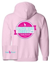 Love You Dearly Hooded Sweatshirt, Pink, Medium
