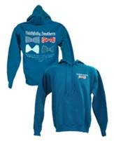 Bow Ties Hooded Sweatshirt, Blue, Medium