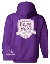 Enjoy The Ride Hooded Sweatshirt, Purple, X-Large