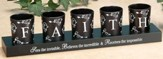 FAITH Votives and Holder, Set of 5