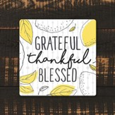 Grateful, Thankful, Blessed Coaster, Large