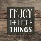 Enjoy the Little Things Coaster, Large