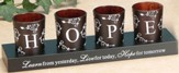 HOPE Votives and Holder, Set of 4