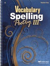 Vocabulary, Spelling, & Poetry III Teacher Key