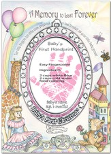 Baby's First Handprint Ornament, Girl