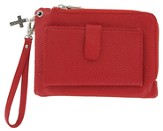 Wristlet with Cross Charm, Red