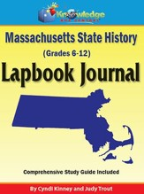Massachusetts State History Lapbook Journal (Printed Edition)