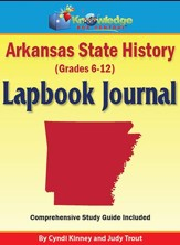 Arkansas State History Lapbook Journal (Printed)