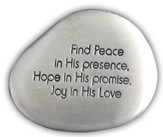 Find Peace Pocket Stone