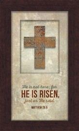 He Is Risen Framed Art