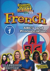 Standard Deviants School, French Program 1: ABC's and Pronunciation, DVD