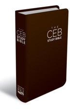 CEB Study Bible--bonded leather, brown - Imperfectly Imprinted Bibles