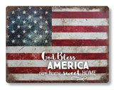 God Bless America Metal Sign