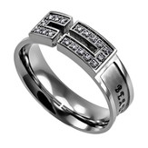 Ashes, Canale Women's Ring with Cubic Zirconium, Size 5 (Isaiah 61:3)