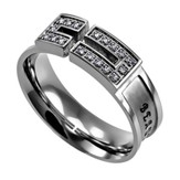 Ashes, Canale Women's Ring with Cubic Zirconium, Size 6 (Isaiah 61:3)