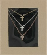 Triple Cross Necklace