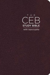 CEB Study Bible with Apocrypha, Bonded Leather Cordovan