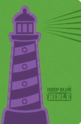 CEB Common English Bible Deep Blue Kids Bible-Lighthouse DecoTone imitation leather - Slightly Imperfect