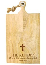 Personalized, Mango Cutting Board, Extra Large, with  Cross