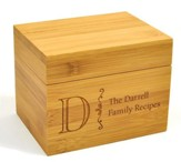 Personalized, Wooden Recipe Box, Family