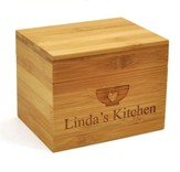 Personalized, Wooden Recipe Box, Kitchen