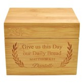 Personalized, Wooden Recipe Box, Give Us This Day