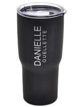 Personalized, Double Wall Metal Tumbler, 24 OZ, Black