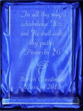Personalized, Glass Plaque, Rectangle, Graduation