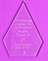Personalized, Glass Plaque, Graduation, Triangle