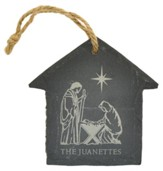 Personalized, Ornament, Slate, Small, Nativity