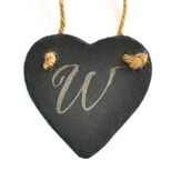 Personalized, Slate Ornament, Monogram, Heart